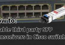 Cisco third party SFP transceivers