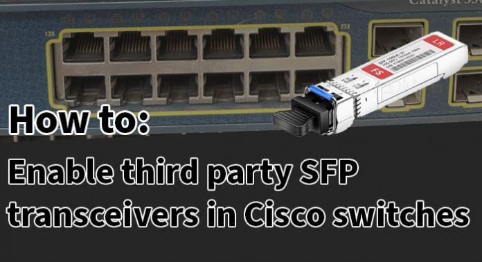 Cisco third party SFP transceivers